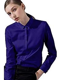 0348033731691 Chemise Femme Manche Longue Basic Casual - éLéGant Bureau Tunique Femme  Mode Tee Top ...