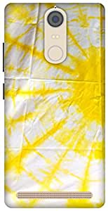 The Racoon Grip printed designer hard back mobile phone case cover for Lenovo K5 Note. (yellow ray)