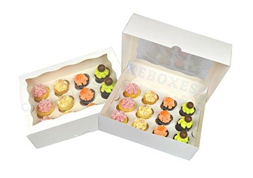 Box für 12Cupcakes mit Fenster und Trennwand (5Pack) 1. Klasse Post (Mini-cupcake-box)