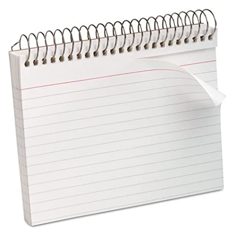 Oxford Spiral Index Cards 4X6 White -- Case of 20 by Esselte Corporation