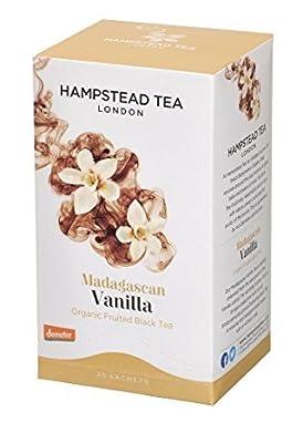 Hampstead Tea London Thé noir fruité biologique à la vanille de Madagascar - 2 sachets de 20 sachets (60 grammes)