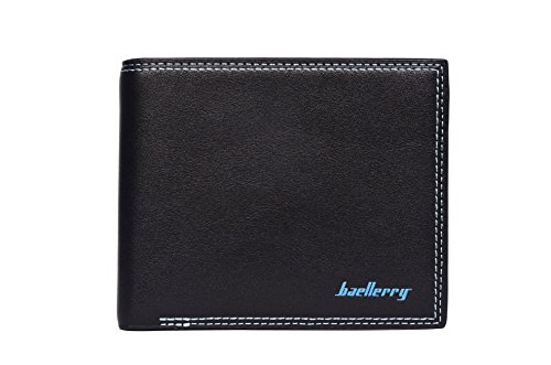 Baellerry soft fine black leather wallet For Men