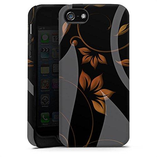 Apple iPhone 5s Housse étui coque protection Ornements Fleurs Fleurs Cas Tough terne