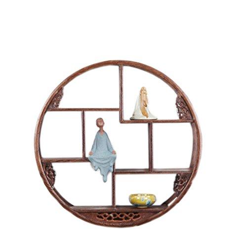 SUN II-Regal Hähnchenflügel Holz Massivholz Chinesischen Stil Wand Schatz Haus an der Wand Teekanne Tee Regal Regal Antik Rack