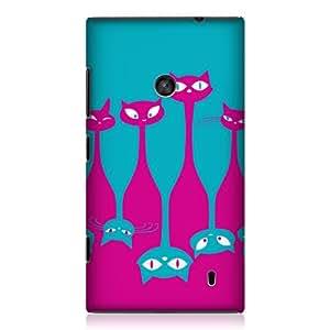 Head Case Designs Clowder Cats Upside Down Design Back Case Cover for Nokia Lumia 520