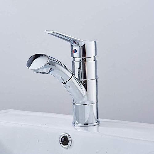 Wasserhahn Küche Waschbecken Badezimmer Waschtischarmatur herausziehen. Haare und Gesicht mit einem Handgriff waschen. Heißes und kaltes Wasser