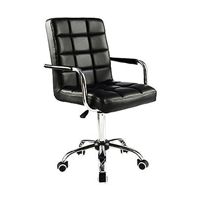 ALK PU Leather Heavy Duty Adjustable Swivel Office Chair - low-cost UK light shop.