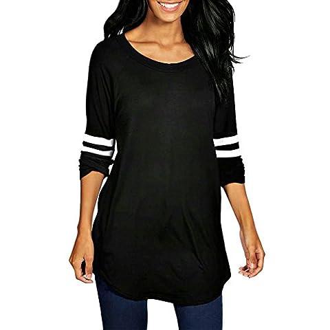 LAEMILIA T-shirt Femmes Chemise Automne Manches Longues Simple Basique Chemiser Casual Sport Pull Tops Blouse Shirts