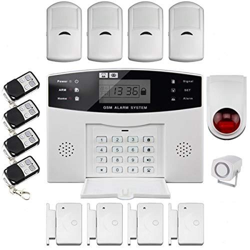 DISCOBALL WIRELESS LCD GSM COMPOSIZIONE AUTOMATICA SMS CASA CASA UFFICIO SICUREZZA ANTIFURTO allarme antintrusione