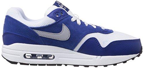 Nike Air Max 1 555766_Unisex-Kinder Unisex-Kinder Low-Top Sneaker Blau (White/wolf grey-gym blue-black 111)