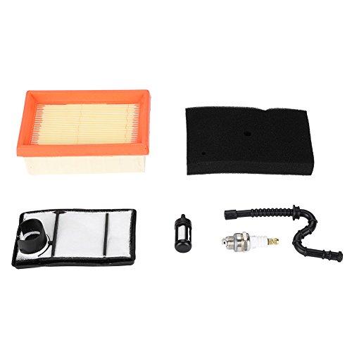 Soarup filtro aria filtro carburante linea prefiltro candela Tackle kit di ricambio per Stihl TS400.