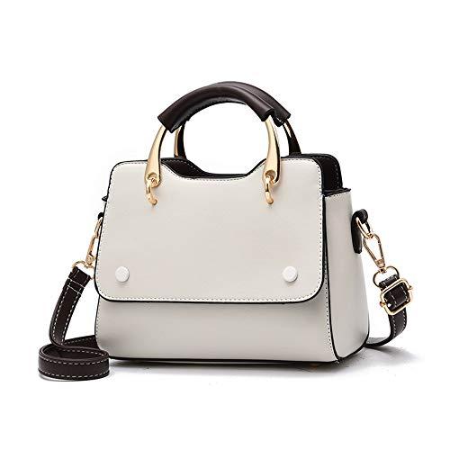 Tnxan luxusmarke Dame Taschen weibliche umhängetasche Crossbody für Frauen litschi Kupplung Kontrast Farbe tragbare haarball Frau schwarz (Hose Kontrast-bund)
