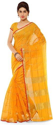 Nirja Creation Women's Cotton Saree (yellow)