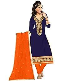 Mahi Fashion Women's Cotton Dress Material (MF13_Free Size_Multi-Coloured)