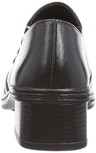 Gabor Hertha L, Mocassins Femme Noir (Black Leather)