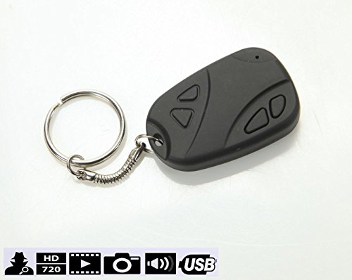 ElectronicsArtGallery(EAG)808 Keychain Camera Car Alarm Remote Recorder Dvr Real HD 1280 x 720p, Best Mini Tiny Hidden Key Fob Camera, NO LIGHTS Recording,