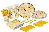 Ape Party Supplies – Serve 24 – Include piatti, coltelli, cucchiai, forchette, bicchieri e tovaglioli. Perfetto per feste di compleanno per bambini, feste a tema e baby shower, motivo con api.
