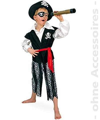 Pirat Piratenkostüm 164 Captain Larson Set 3tlg Oberteil (Westenoptik)+ Hose + Gürtel Fasching Kinder-Kostüm
