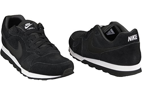 Nike  MD Runner 2 Leather Prem, Baskets pour homme Multicolore - Negro / Blanco (Black / Black-White)