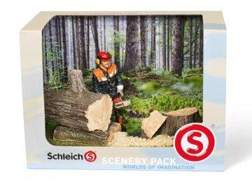 Preisvergleich Produktbild Schleich 41806 - Catalog Scenery Pack Waldarbeit