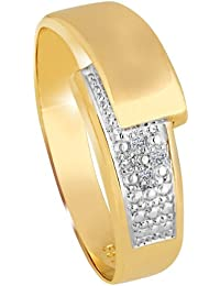 Diamond Line Damen - Ring 585er Gold 4 Diamanten ca. 0,02 ct., gelbgold