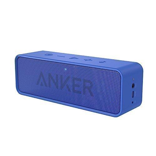 Anker Altoparlante Bluetooth SoundCore - Speaker Portatile Senza Fili con Microfono Incorporato e Doppia Cassa, Audio di Alta Qualità con Bassi Puliti ed Incredibile Durata di Riproduzione di 24 Ore. Per iphone X/8/8 Plus, iPad, Samsung e Altri