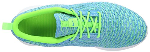 Nike Roshe One Flyknit, Scarpe da Ginnastica Basse Donna Turchese (Electric Green/Blue Lagoon/Glacier Ice)