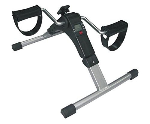 Cyclette elettronica pieghevole | Pedaliera per esercitare gambe e braccia | Cyclette portatile
