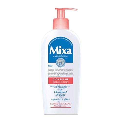 Mixa Cica-Repair Bodylotion, mit Urea und Panthenol, für empfindliche, extrem trockene und rissige Haut, ohne Parabene, ohne Farbstoffe,...