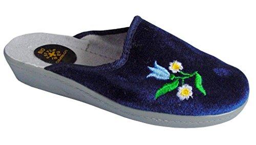 Gibra Pantofole donna Blau