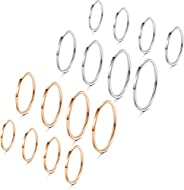 Fiasaso 16 Pcs 1mm Stainless Steel Stacking Rings Knuckle Rings Plain Rings Midi Rings Comfort Fit Size 2 to 9