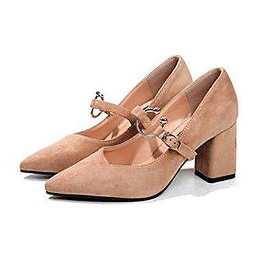 RTRY Donna Luce Tacchi Suole Pu Estate Abbigliamento Casual Blocco Fibbia Tacco Cammello Nero 2A-2 3/4In US6.5-7 / EU37 / UK4.5-5 / CN37