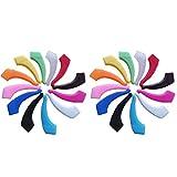 ARTLILY 12 paia occhiali ganci per orecchio occhiali in silicone grip pad auricolari antiscivolo (ogni coppia per colore diverso)