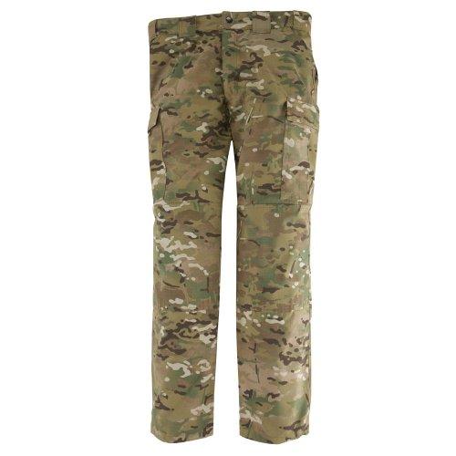 5.11 Tactical Herren Combat Camo Cargo Pants Multicamo Ripstop Militär-Arbeitshose, Teflon-Finish für Fleckenresistenz, Style 74350, Herren, Multicamo, Large Long -