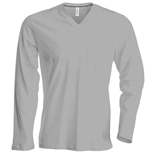 Kariban Long sleeve v-neck t-shirt Navy