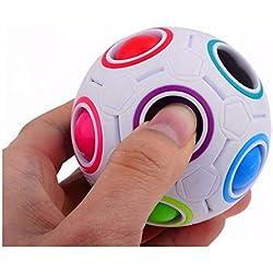 AMOYER Magic Rainbow Rompecabezas De La Bola Cubo De La Velocidad De La Bola del Juguete del Enigma
