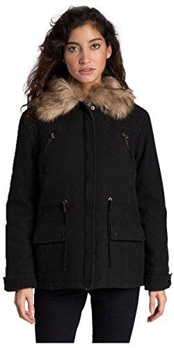 2016 Billabong Ladies Military Parka Jacket BLACK Z3JK12 Sizes- - ExtraLarge