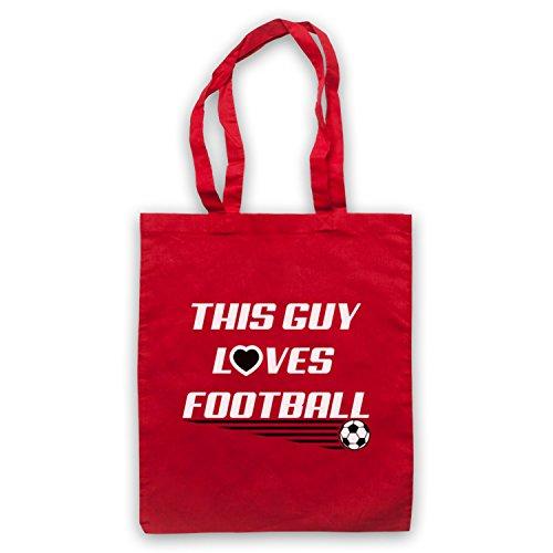 This Guy Loves Football Football Slogan Umhangetaschen Rot
