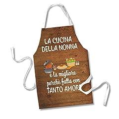 Idea Regalo - Babloo Grembiule da Cucina Idea Regalo Festa dei Nonni La Cucina della Nonna