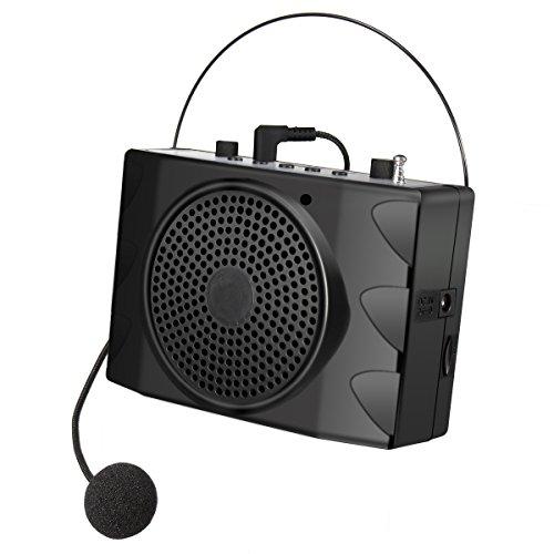 ELEGIANT KU-898 USB2.0 FM Amplificador De Voz Portátil Ultraligero Trabajar De Forma Continua Durante 8-15 Horas Con Un Micrófono Para Profesores,Guías, Entrenadores, Presentaciones, Trajes, Etc Negro