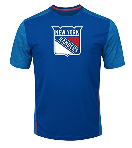 VF LSG NHL Glowing Play Short Sleeve Crew Neck Tee, Herren, NHL Glowing Play Short Sleeve Crew Neck Tee, Deep Royal Blue Heather Mesh Athletic Red, Small Athletic Mesh Pullover