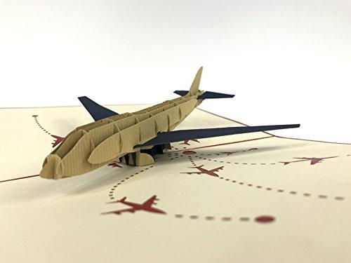 Aereo v23d pop up cards vintage aereo air regali creativi cartolina compleanno san valentino, biglietti di auguri per gli amanti