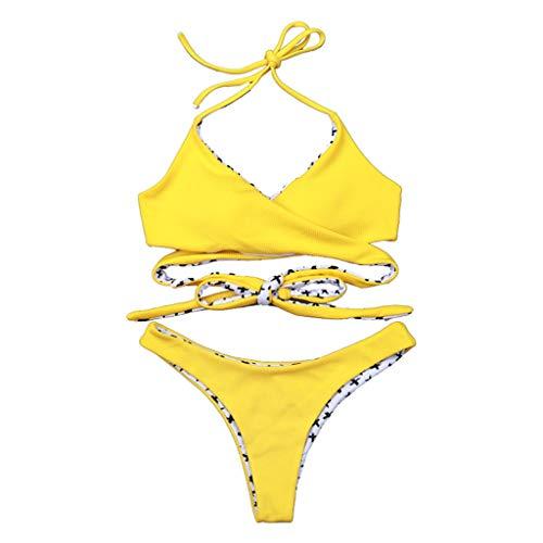 3402d71a1ed05 Beautyjourney Maillots De Bain Femmes 1 PièCe Bikini Razor Maillot De Bain  SirèNe Collier Bikini Maillot