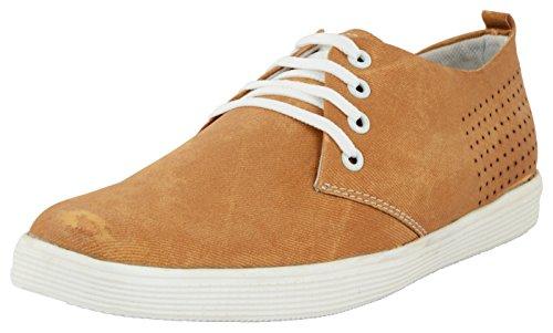 NIZZA Men's Brown Sneakers - 6 UK