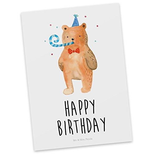 tkarte Birthday Bär - 100% handmade in Norddeutschland - Happy Birthday, Alles Gute, Glückwunsch, Geburtstag, Postkarte, Geschenkkarte, Grußkarte, Karte, Einladung (Geschenkkarte Geburtstag)