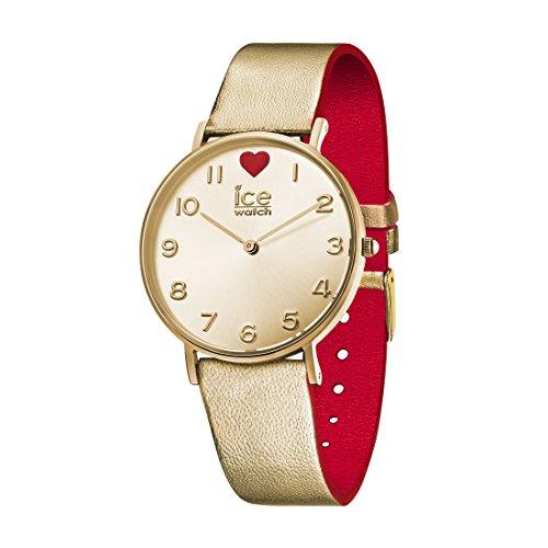 Ice-Watch - ICE love 2017 City - Montre dorée pour femme avec bracelet en cuir - 013376 (Small)