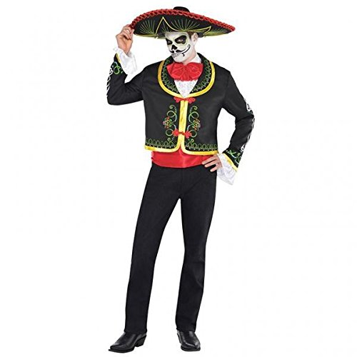Deluxe Day of the Dead Senor - Adult Costume AMS MENS PLUS (Deluxe Size Kostüme Plus)