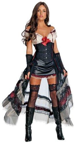 Hex Kostüme Halloween Jonah (Jonah Hex Western Lilah Kostüm für Damen,)
