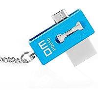 Memoria USB 32GB Plegable Aluminio, Pen Drive Flash 2.0 de Alta Velocidad Doble Uso Celular Android&Ordenador Smartphones y Tableta