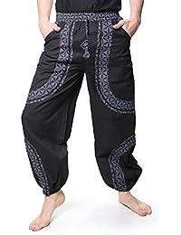 Kunst und Magie Psy Goa Freizeit Hose aus Baumwolle Unisex- Für Sie und Ihn